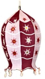 Art Godaam Hanmade fabric Maroon Cotton Lantern