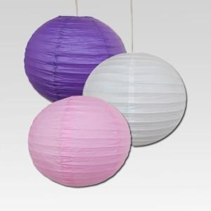 Christmas Tree Shops Purple, Pink, White Paper Lantern
