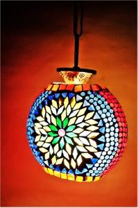 Weldecor Multicolor Brass, Aluminium Lantern