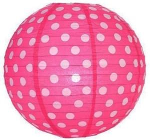 Funcart Polka Dot Pink Paper Lantern