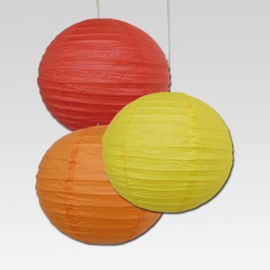 Dhol Dhamaka Red, Yellow, Orange Paper Lantern
