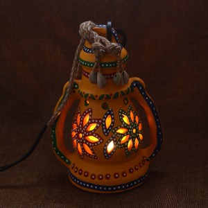 Unravel India Yellow Terracotta Lantern