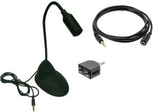 Techvik 3 In 1 Multimedia Adjustable Laptop Desktop Microphone Meeting Mic + Aux Extension Cable + Audio Y-Splitter Adapter Combo Set