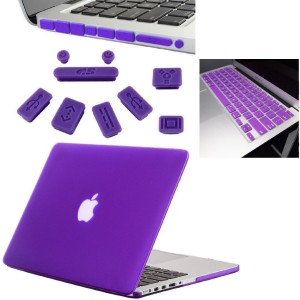Shrih 13-Inch Rubberized Hard Case, Silicone Keyboard Guard And Anti dust Ports With Retina Display Shell Covers Combo Set