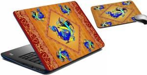 meSleep Rust Peacock Laptop Skin 207 Combo Set