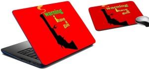 meSleep Gun Laptop Skin and Mouse Pad 102 Combo Set