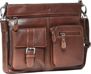 Leather Zentrum 10 inch Laptop Messenger Bag