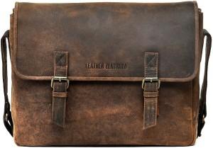 Leather Zentrum 13 Inch Laptop Messenger Bag