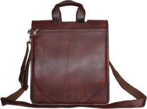 LEATHER COLLECTION 13 inch Laptop Messenger Bag