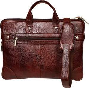 0c76c18f63 Leather World 16 inch Laptop Messenger Bag Brown Best Price in India ...