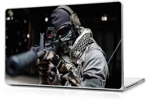 Global Gun Man Vinyl Laptop Decal 12.6