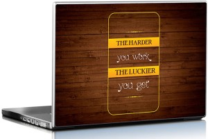 Seven Rays The Harder You Work The Luckier You Get Vinyl Laptop Decal 15.6