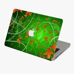 Theskinmantra Green Laptop First Macbook 3m Bubble Free Vinyl Laptop Decal 13.3