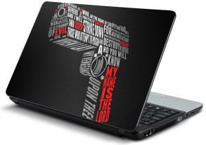 ezyPRNT Gun Typography Vinyl Laptop Decal 15.6