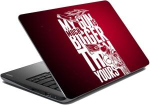 meSleep Red Quotes Vinyl Laptop Decal 15.1