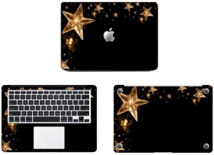 Swagsutra Golden Stars Vinyl Laptop Decal 11