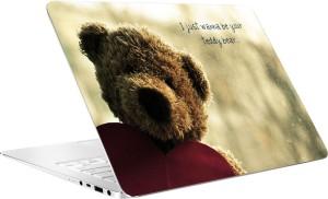 AV Styles Teddy Bear Laptop Skin Vinyl Laptop Decal 15.6