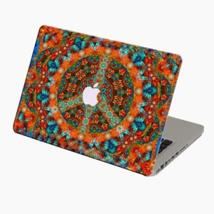 Theskinmantra Peace With Colours Macbook 3m Bubble Free Vinyl Laptop Decal 13.3