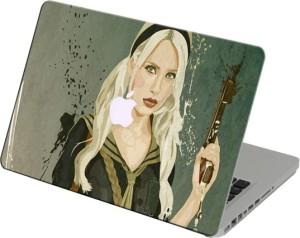 Theskinmantra Girl With Gun Laptop Skin For Apple Macbook Air 11 Inch Vinyl Laptop Decal 11