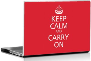 Seven Rays Keep Calm & Carry On Vinyl Laptop Decal 15.6