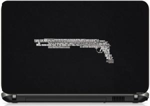Print Shapes Please stop war gun typography Vinyl Laptop Decal 15.6