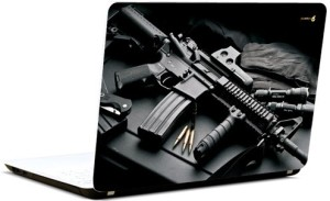 Pics And You Gun N Bullet 5 Vinyl Laptop Decal 15.6