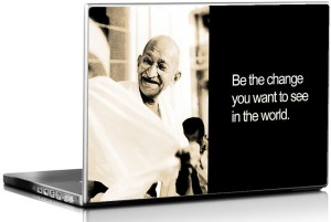 Seven Rays Gandiji be the Change Vinyl Laptop Decal 15.6