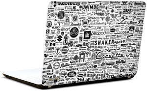 Pics And You Car Logos Collage 3M/Avery Vinyl Laptop Decal 15 6