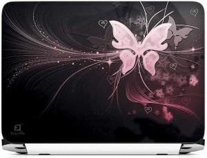 FineArts Butterfly With Heart Vinyl Laptop Decal 15.6