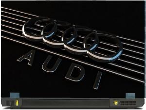 SkinShack Audi Embossed Style Logo (11.6 inch) Vinyl Laptop Decal 11.6