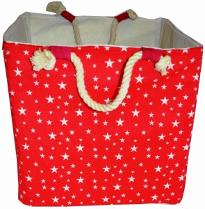 Creative Textiles 20 L Red Laundry Basket