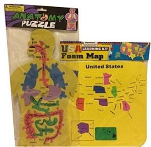 An American Company Set Of 2 Educational Foam Puzzle Human Anatomy ...