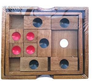 Kids  Wooden Brain Teaser Slide Maze Puzzle Board Toy 8C