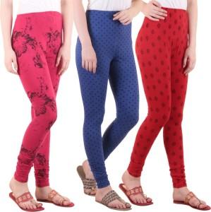 Diaz Women's Pink, Blue, Red Leggings