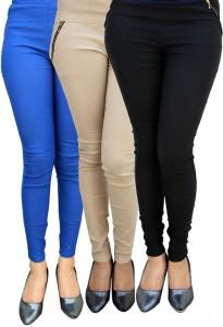Magrace Women's Blue, Beige, Black Jeggings