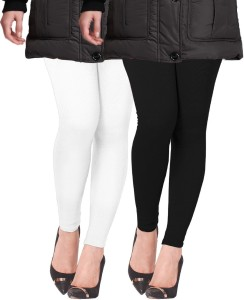 274e402f7cf770 Lux Lyra Women s White Black Leggings Pack of 2 Best Price in India ...