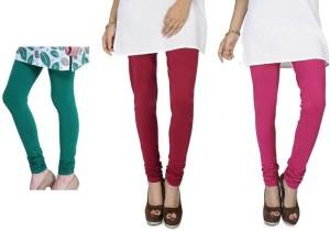 550d92a6dea4fe Rupa Softline Women s Green Maroon Pink Leggings Pack of 3 Best ...