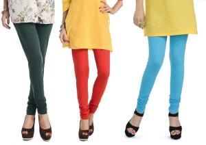 1c859115b24cb7 Rupa Softline Women s Blue Orange Green Leggings Pack of 3 Best ...