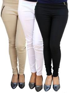 Magrace Women's Beige, Black, White Jeggings