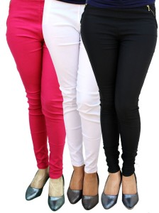 Magrace Women's Pink, Black, White Jeggings