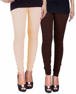 C&S Shopping Gallery Women's Beige, Brown Leggings
