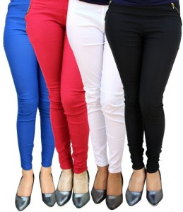 Magrace Women's Blue, Pink, White, Black Jeggings