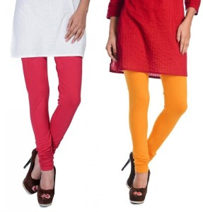 cac6f02bfb75ab Rupa Softline Women s Red Yellow Leggings Pack of 2 Best Price in ...