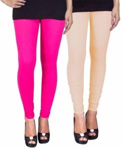 C&S Shopping Gallery Women's Pink, Beige Leggings