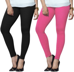 6e5a45abb0416 Lux Lyra Women s Black Pink Leggings Pack of 2 Best Price in India ...
