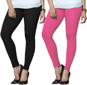 bfec0aff62b84b Lux Lyra Women s Black Pink Leggings Pack of 2 Best Price in India ...