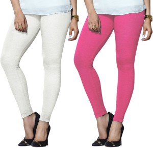 5085fd4cef831d Lux Lyra Women s White Pink Leggings Pack of 2 Best Price in India ...