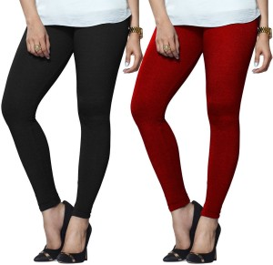 559395a9be41ab Lux Lyra Women s Black Red Leggings Pack of 2 Best Price in India ...