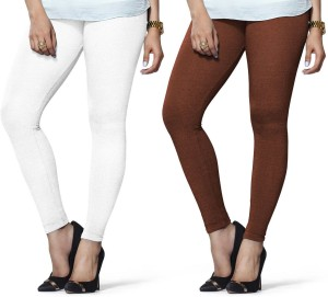 c44cc5f17137d Lux Lyra Women s Brown White Leggings Pack of 2 Best Price in India ...