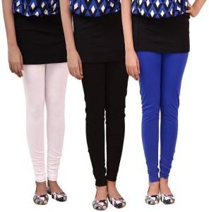 e825d1308fcba carrol Women s White Yellow Green Leggings Pack of 3 Best Price in ...